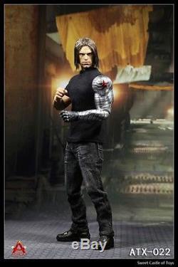 1/6 Custom Avengers Captain American Civil War Winter Soldier Bucky Sneak Ver