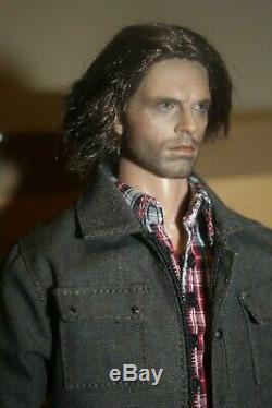 1/6 Custom Winter Soldier Figure Bucky Barnes Hot Toys Civil War endcredits casu