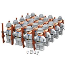 100 Pcs Union Army Southern Civil War Soldiers Revolution Lego Minifigures MOC