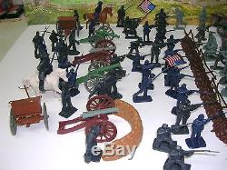 110 Pieces Civil War Armymen Cannons Soldier Set, Siege Mortars, Bunker Cannons