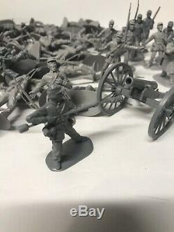 130 grey Accurate Civil War Toy Soldiers Union And Confederate ACW 132 Huge Lot