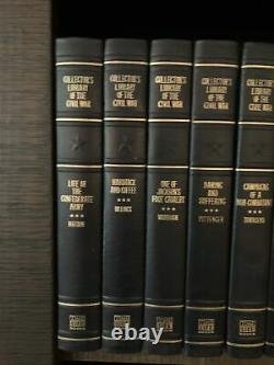 14 Volumes Collectors Library Of The Civil War Time Life Books Leather Bound