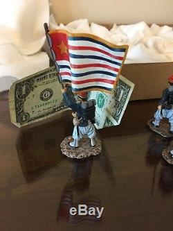 16 LEAD TOY Britains Soldiers, Civil War, Zouaves, Wheats