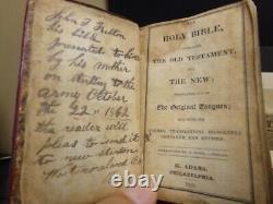1828 Civil War KJV Bible. Owner, Army soldier John T. Fulton
