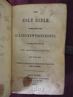 1854 Bible Civil War Soldier died in Libby Prison. Skinner