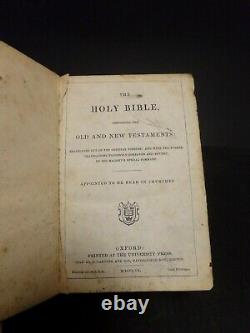 1860 Civil War Holy Bible pres to soldiers of 43rd Regiment