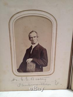 1860's CIVIL WAR ALBUM 32 CDV PHOTOS 2 SOLDIERS + 2 CADETS, PHILADELPHIA ORIGIN