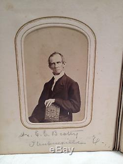 1860's CIVIL WAR ALBUM 32 CDV PHOTOS 2 SOLDIERS, CADETS, PHILADELPHIA ORIGIN