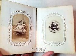 1860s Civil War soldier, generals, Lowell, Massachusetts old photo album, CDVs