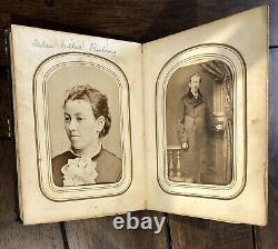 1860s Photo Album ID'd Ohio Infantry, Civil War Soldier & Wife, Willis, Peetrey