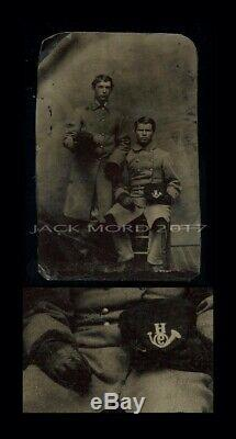 1860s Tintype Photo of Two Civil War Soldiers 9th Infantry