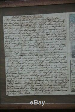 1861 Civil War Map by Magnus & Soldier Letter To Brother Free Shipping