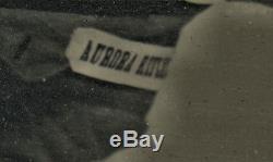 1862 Ambrotype Photo ID'd Civil War Soldier w Muster Card & AURORA RIFLES Banner