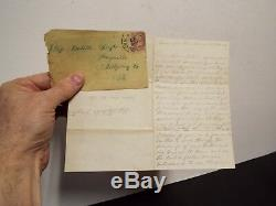 1862 Civil War Letter 139th PA, Co. F Soldier Letter James Haslet