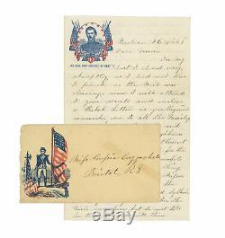 1862 Civil War R. I. Soldier Letter Desecration of Major Sullivan Ballou's Grave