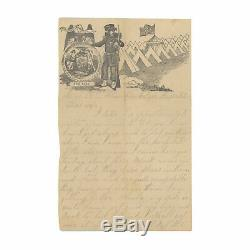 1863 Civil War Letter by 24th New York Soldier Columbian Hospital, Washington