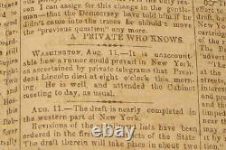 1863 Death Of Abraham Lincoln Black Soldiers Antique CIVIL War Newspaper Slave
