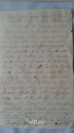 1864 Civil War Ohio soldier's letter to mom Battle @ Jonesboro Atlanta taken