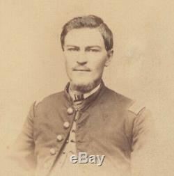 1864 PORTRAIT OF CIVIL WAR SOLDIER IN UNIFORM With PHOTO OF WIFE IDENTIFIED