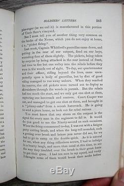 1865 CIVIL WAR SOLDIER LETTERS Correspondence from CAMP PRISON & BATTLE FIELD