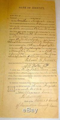 1865 Civil War discharge/muster and tintype photo of soldier 1st regiment Iowa