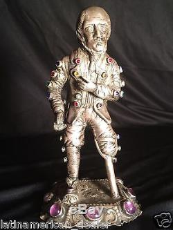 1880's Antique Victorian Era English Sterling Silver Civil War Soldier Figure