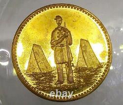 (1890's) CIVIL WAR SOLDIER TOKEN CANNON SADDLE RIFLE & SABRE
