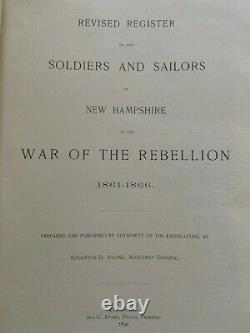 1895 New Hampshire sailors Soldiers Civil War Regimental History Ayling 1st 2nd