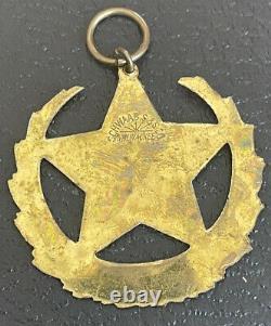 1902 Dallas Texas CIVIL War Confederate Soldiers Veterans Reunion Badge Fob
