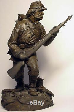 1986 CIVIL WAR UNION INFANTRY D SOLDIER SCULPTURE SIGNED by TERRY JONES 304/950