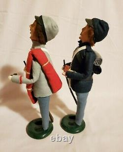 (2) Byers Choice CONFEDERATE & UNION SOLDIERS Civil War Carolers 2011
