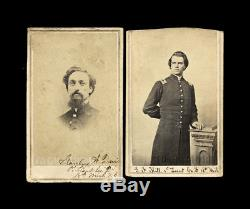 (2) CDV Photos ID'd Civil War Soldiers 18th Michigan Infantry Both POW & WIA