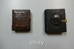(2) Civil War Soldier 1/9 Ambrotype Repaired Cases