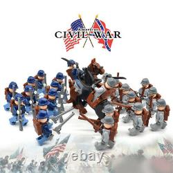20 Pcs Minifigures MOC American Civil War Soldiers The North Revolutionary War