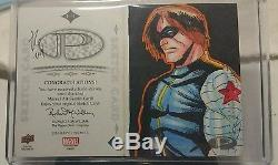 2014 marvel premier sketch Captain America Winter Soldier Allen Genta civil war