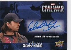 2016 Captain America Civil War Sebastian Stan as Winter Soldier Auto SA-SV