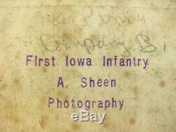 22nd Iowa CIVIL War Soldier CDV Photo Killed At Winchester Virginia