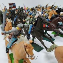 28 Britains LTD and Britians Deetail Confederate cavalry toy Civil War soldiers