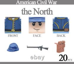 40PCS Minifigures lego MOC American Civil War Army Union North South Soldiers