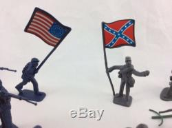 50 Piece 2 Civil War Army Guys Men Military Soldier Toy Playset & Accessories