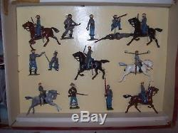 58 pc BOXED Britains SOLDIERS Union/Confederate Civil War 1862 Troops Tents Guns