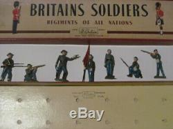 7 Pc W Britain Confederate Infantry 2060 American CIVIL War Toy Soldier