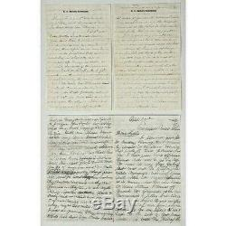 8 Letter Lot CIVIL War Correspondence Featuring Descriptions Of Rebel Soldiers