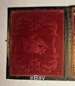 9th Plate Civil War Boy Soldier Ambrotype Image Eagle Case