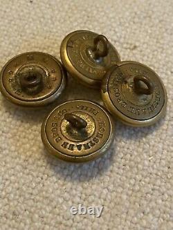 ANTIQUE ORIGINAL CIVIL WAR UNION SOLDIER Dag Pay Voucher Buttons