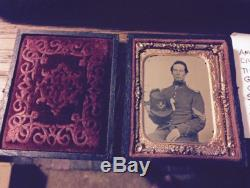 Ambrotype Photograph Of Civil War Soldier