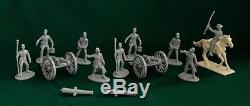 American Civil War 1/32 Confederate Army Soldier Figures & Cannon Artillery