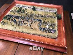 American Civil War Gettysburg 1863 Picket's Charge Diorama Hand Made Swivel