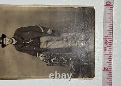 Antique 1860s Civil War Officer Soldier CDV Photo 5th Calvary Iowa Union IDd