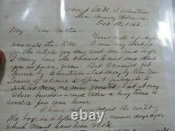 Antique 1863 Civil War Soldier Letter To Mother 5th New Jersey Regiment